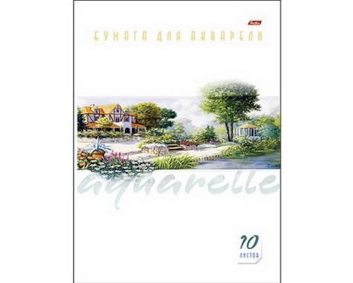 Бумага для акварели А4 10 листов Пейзаж