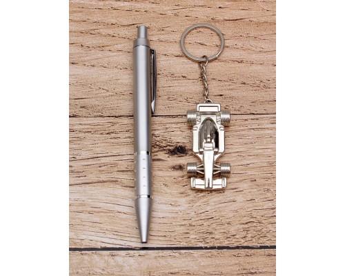 Подарочный набор 2 в 1 Гонщик (ручка, брелок)