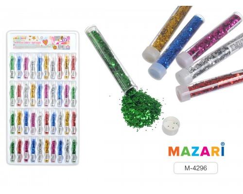 Декор для творчества Блестки фигурные декоративные в пластиковой тубе с крышкой, микс 6 цветов