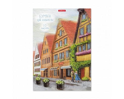 Бумага для акварели А4 10 листов ErichKrause Promenade