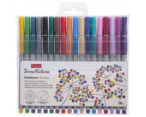 Линер 18 цветов Hatber Terra Colora, на водной основе