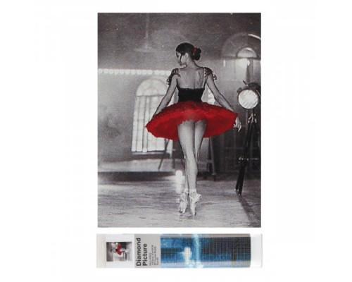 Алмазная мозаика 25*35см КОКОС Балерина полная выкладка холст без подрамника 205526